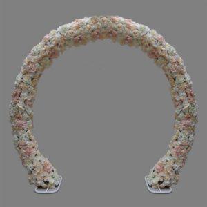ABH-Deco - arche en fer ronde fleurie