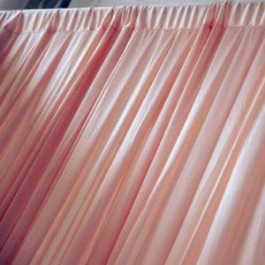 Location de drapé saumon d 3m - ABH-DECO