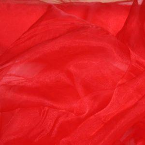 Drapé organza rouge