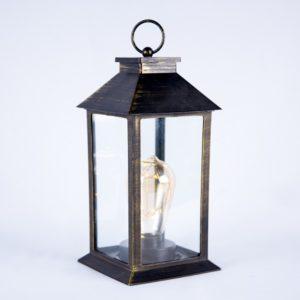 ABH-Deco - lanterne noir et dorée