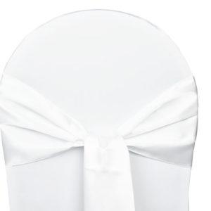 Noeud de cchaise satin blanc - ABH-Deco