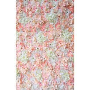 ABH-Deco - Plaque mur de fleur pêche