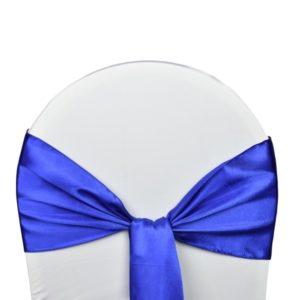 Nœud de chaise satin bleu roi