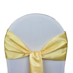 Nœud de chaise en satin doré - ABH-Deco