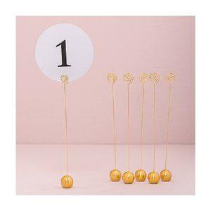 ABH-Deco - marque table doré